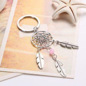 Porte clés dreamcatcher argent